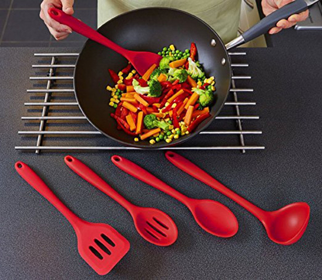 WALFOS FDA Approved Silicone Cooking Tools Silicone Kitchen Utensils ...