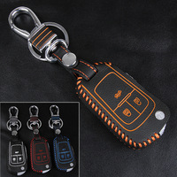 2016 NEW Remote Key Holder Special Offer For Chevrolet 3 Buttons Key Bag Genuine Leather Hand