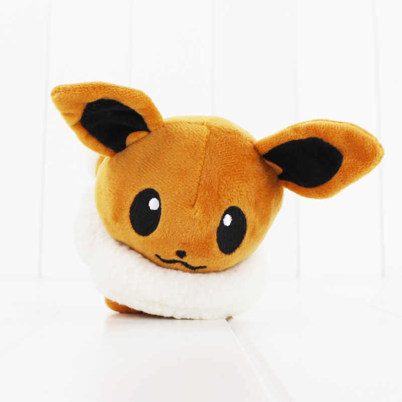 10cm Mew y Eevee Pokemon Sylveon Jolteon Flareon Espeon Umbreon Pikachu Glacia lindo muñecas de felpa caliente japonés muñeca de anime figura de juguete