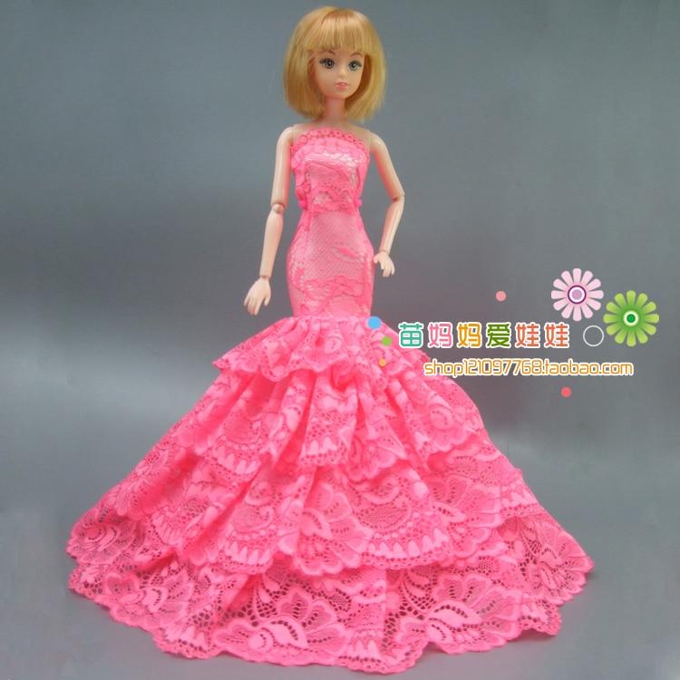 Lyx brud brudklänning Elegant prinsessa klänning Outfit för Barbie - Dockor och tillbehör - Foto 2