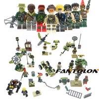 ทหารกองทัพWW2ทหารอาวุธSwatทีมโครงการสีดำทองมินิอาคารอิฐบล็อก8ตัวเลขของเล่นสำหรับเด็กผู้ชายข...