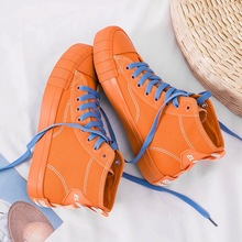 2019spring new womens shoes flat-bottomed high-end student casual solid color board joker Korean version Yasilaiya