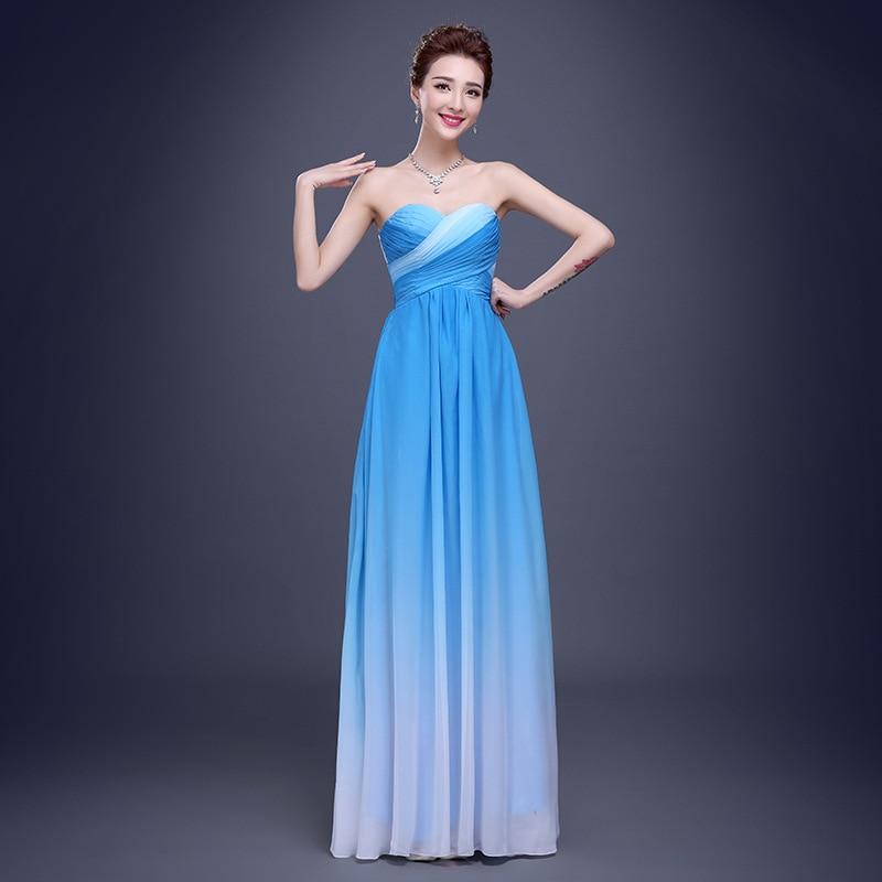Elegante vestido de Novia Sin Tirantes vestido de fiesta 2016 Largo ...