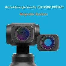 Mini lente grande angular para dji osmo bolso lente de vidro óptico magnética lente grande angular handheld cardan bolso acessórios da câmera