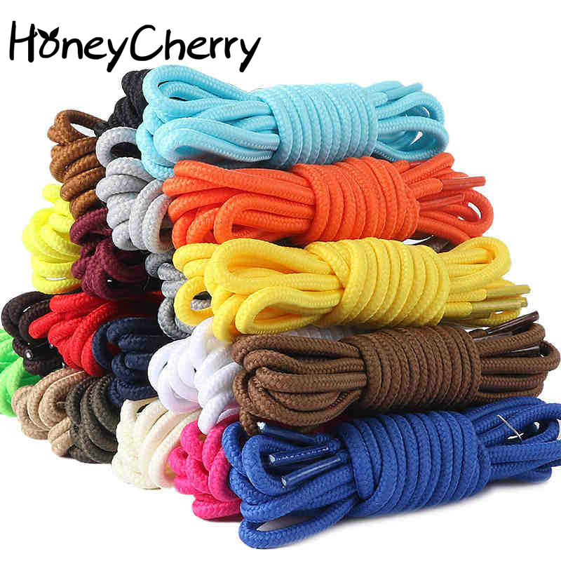 1 pair Thick Round ShoeLaces 90cm/120cm long Martin Boots Men And Women Climbing Sneakers Outdoor Shoes Shoelaces 15 colors