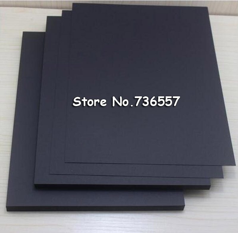 230gsm A4 size Vintage Blank Black Kraft Paper Notes Card DIY Graffiti Painted