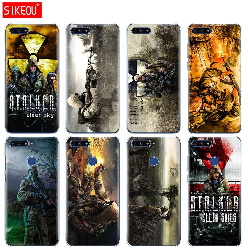 Силиконовый чехол для телефона Huawei Honor 7A PRO 7C Y5 Y6 Y7 Y9 2017 2018 Prime stalker clear sky Game Fashion