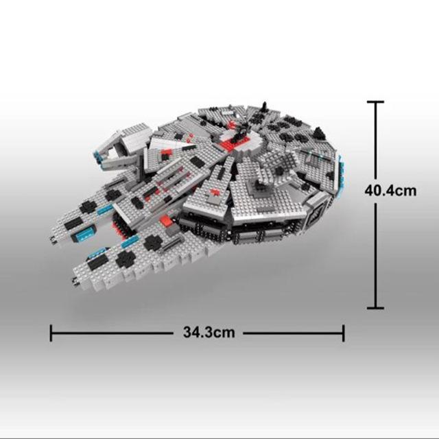 JOYA Micro Bloques DIY Ladrillos de Construcción de Nave Espacial de Star wars Halcón Milenario Juguetes 3D Anime Juguetes Figuras de la Subasta Boy Toys G837