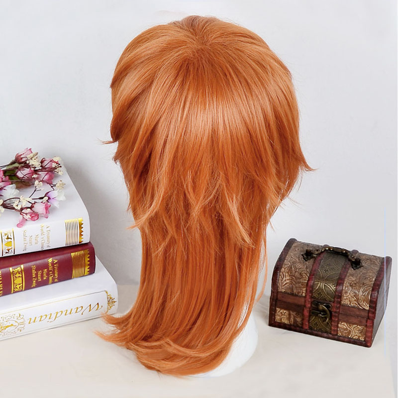 Image 4 - Anime Bungo Stray Dogs Chuya Nakahara Chuuya Brown Orange Heat Resistant Cosplay Costume Wig + Track + Cap-in Anime Costumes from Novelty & Special Use