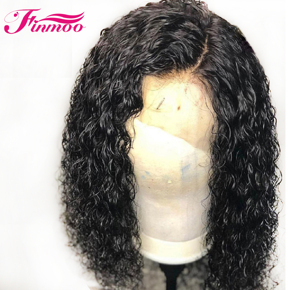 Curly Wig Human-Hair Full-Lace Black-Women with Pre-Plucked Knots for 100%Indian