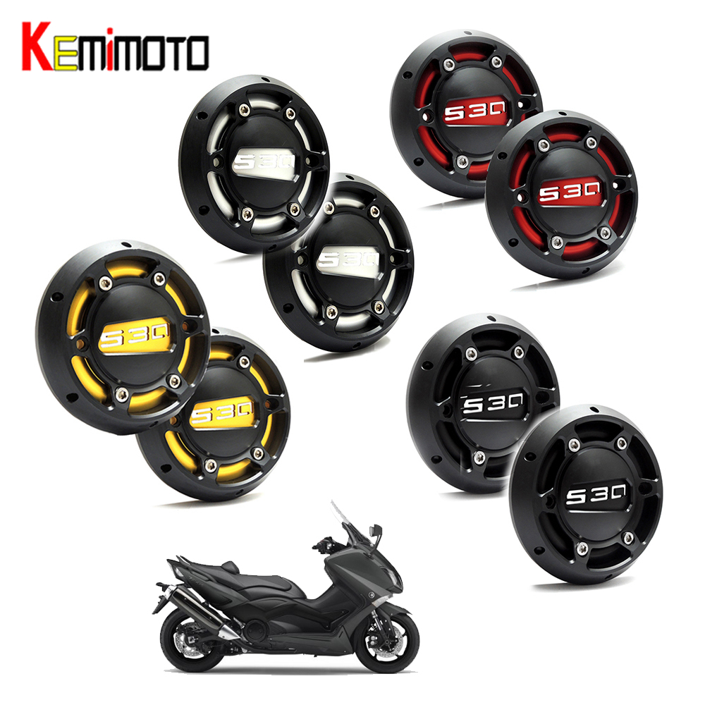 KEMiMOTO 2PCS for TMAX 530 500 Motorcycle CNC Engine Stator Cover Guard For Yamaha 530 2012