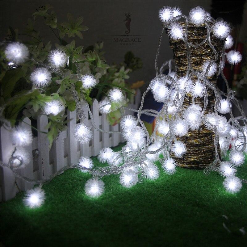 Xmas Lights And Erina Party Shop: Frigga 100Leds 10M Snowball Pompon Led String Light