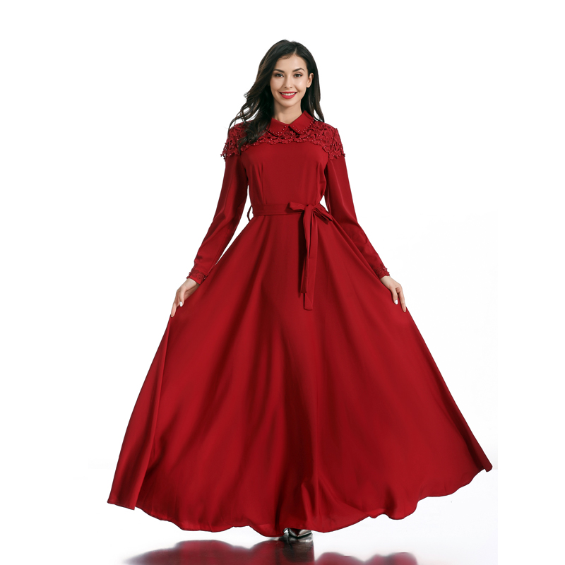 Lace Vestidos Musulmanes Abaya Robe Femme Dubai Kaftan Islamic Arabic Hijab Muslim Dress Women Ramadan Caftan Turkish Dresses