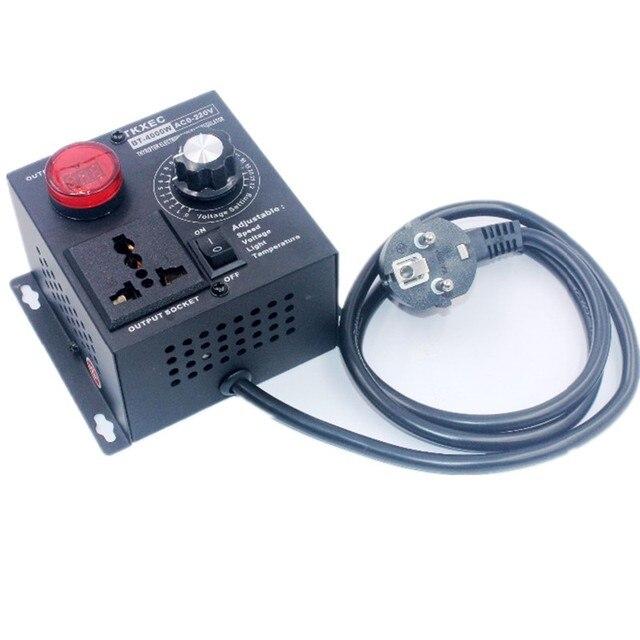 תצוגת Led AC 220V 4000W SCR אלקטרוני מתח רגולטור טמפרטורת מנוע מאוורר מהירות בקר דימר חשמלי כלי