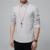 Tejidos de algodón de alta calidad nuevo verano de la manera V-cuello delgado de manga larga camisa casual color metrosexual hombre
