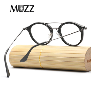 Image 5 - High Quality Men Myopia Wood Eyewear myopia glasses frame retro frame female frame male with myopia glasses