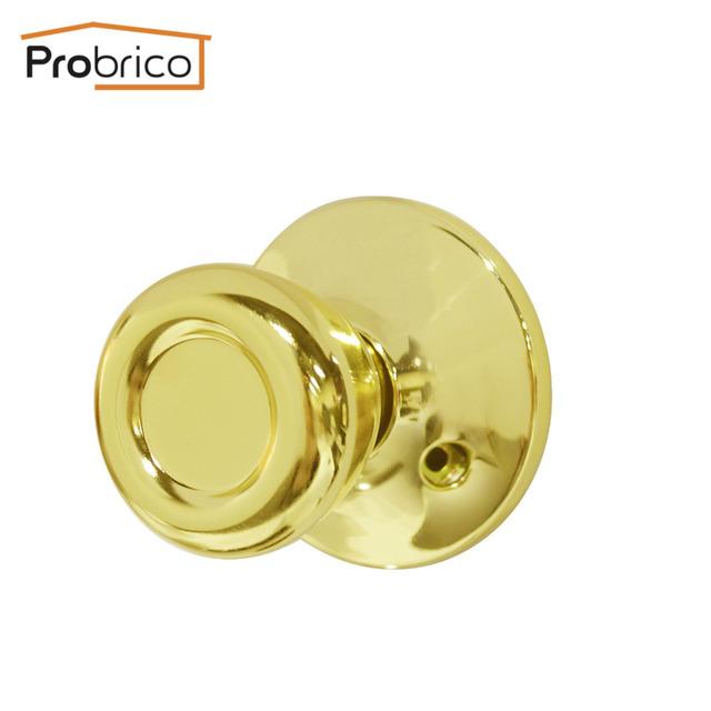 Probrico Stainless Steel Entrance/Privcy/Passage/Deadbolt Door Lock Gold Finish Door Knob Door Handle Tulip Style DL576PB