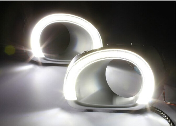 LED car DRL For S-Ubaru Outback 2010 2011 2012 Daytime Running Light fog lamp,fog lights cover ,car styling accessories, 2 pcs high quality 1 set car accessories led daytime running lights white drl auto fog lamp headlight for mazda 3 2010 2011 2012 2013