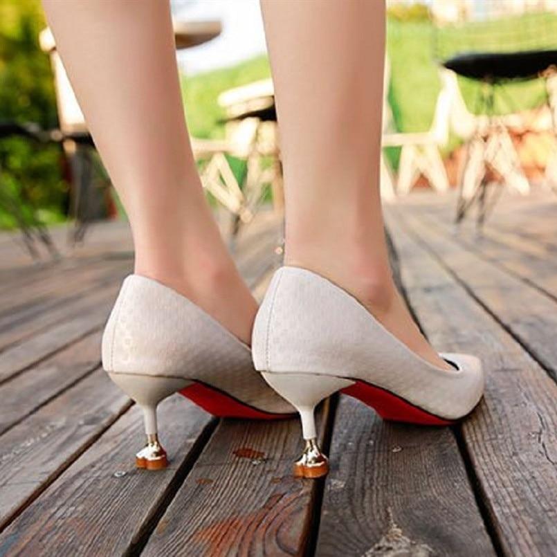 Haute A2989 Et Fraîche En Qualité Casual Printemps Femmes a Cuir C d Hauts Lady Noir Pu Chaussures Classique Beige À Talons Automne Cresfimix 4HEwaqE