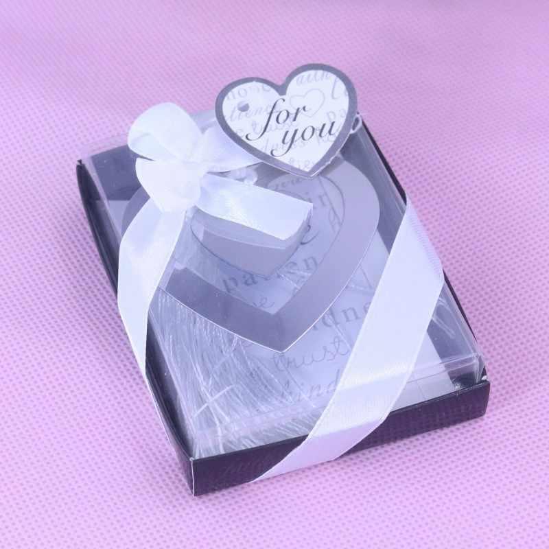 20 шт., объемные закладки в виде сердца, вечерние сувениры для маленьких мальчиков и девочек, для крещения, свадьбы, подарок для гостей