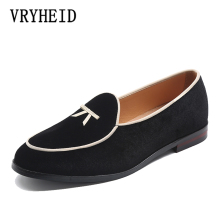VRYHEID Brand Fashion New Men Party And Wedding Handmade Loafers Silk Velvet Shoes Dress Shoe Mens Flats Big Size 37-48