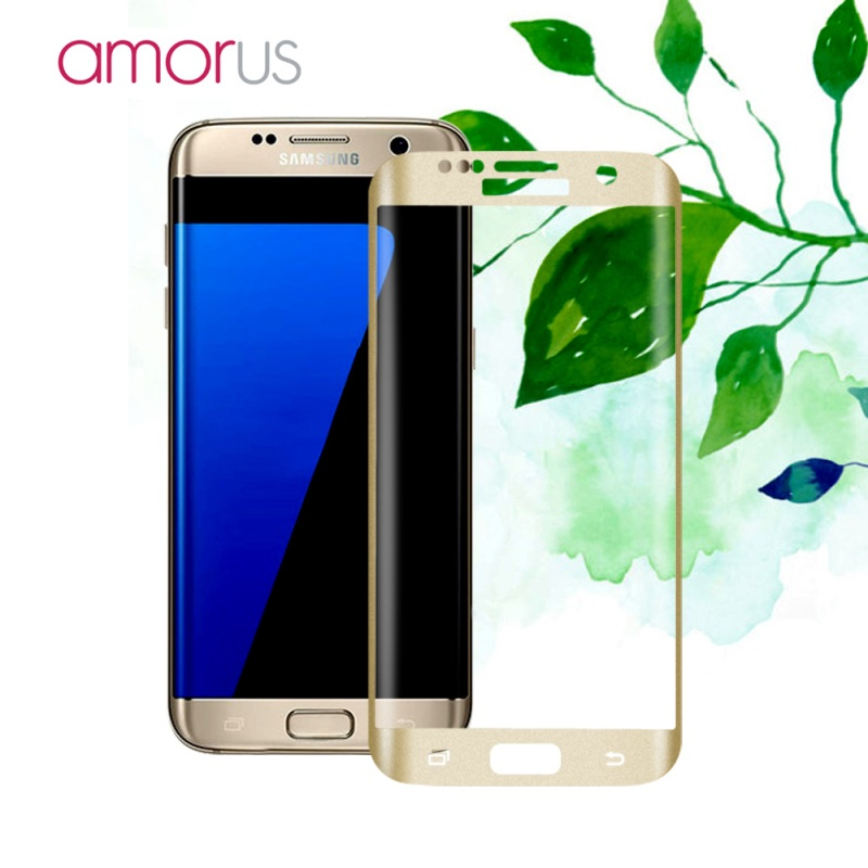 bilder für Original AMORUS für Samsung Galaxy S7 rand Seide Drucken Volle Größe Curved Ausgeglichenes Glas-schirm-schutz für Samsung S7 Rand