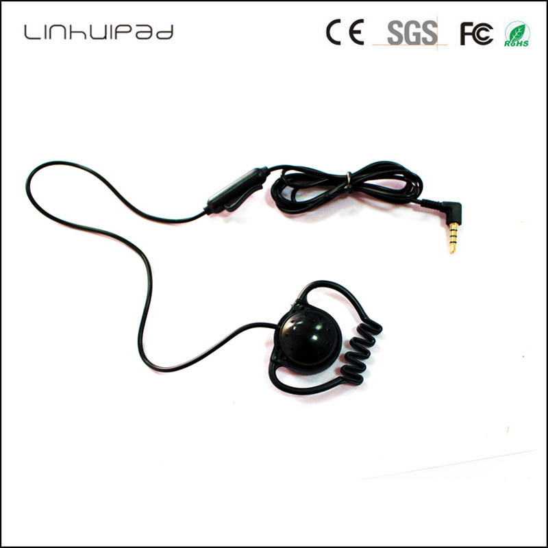 Linhuipad F-02 3.5MM stereo Ear Hook Earphone cheap headphone Tour Guide System For Visit Tourism Conference Teaching Training