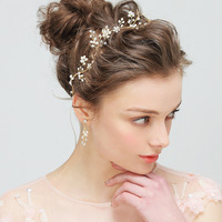 cheer bows headbands for women brade pearl hair clips for girls Fashion dropshipping