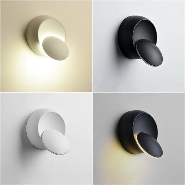 Rotating Round LED Wall Lamp