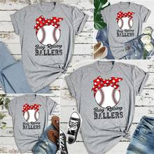 e001ec3b Busy Raising Ballers Baseball Softball Mom Shirts Softball Mom Tee Game Day  Shirt Top Tees 2019