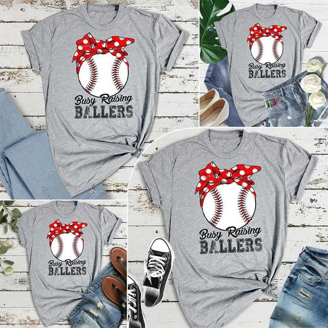 d0d42da887d Busy Raising Ballers Baseball Softball Mom Shirts Softball Mom Tee Game Day  Shirt Top Tees 2019