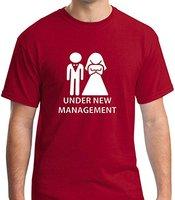 T Shirt S Funny Wedding Marriage Under New Management Men S Print T Shirt Men Hot