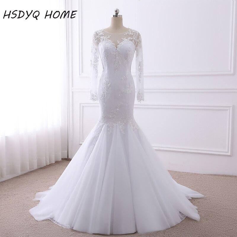 Robe De Mariage 2017 Long Sleeves Mermaid Wedding Dresses