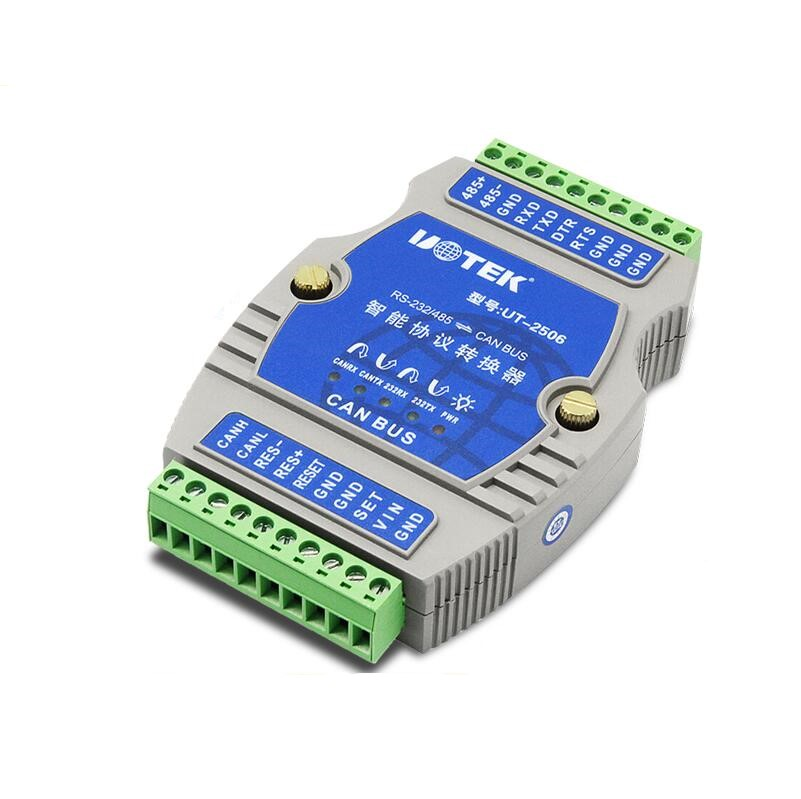 UTEK UT-2506 RS232/rs485 to CAN BUS RS-232/485 Turn CANBUS Intelligent Protocol Converter Industrial цена