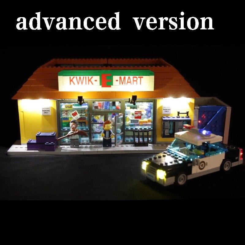 Led Light For Lego 71016 Building Blocks Creator City Street Compatible 16004 Simpsons Kwik-E-Mart Toys( light with Battery box) цена