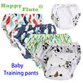 Happy flute 1 pcs adjustable cotton baby washable cloth diaper reusable nappies / LABS training pants