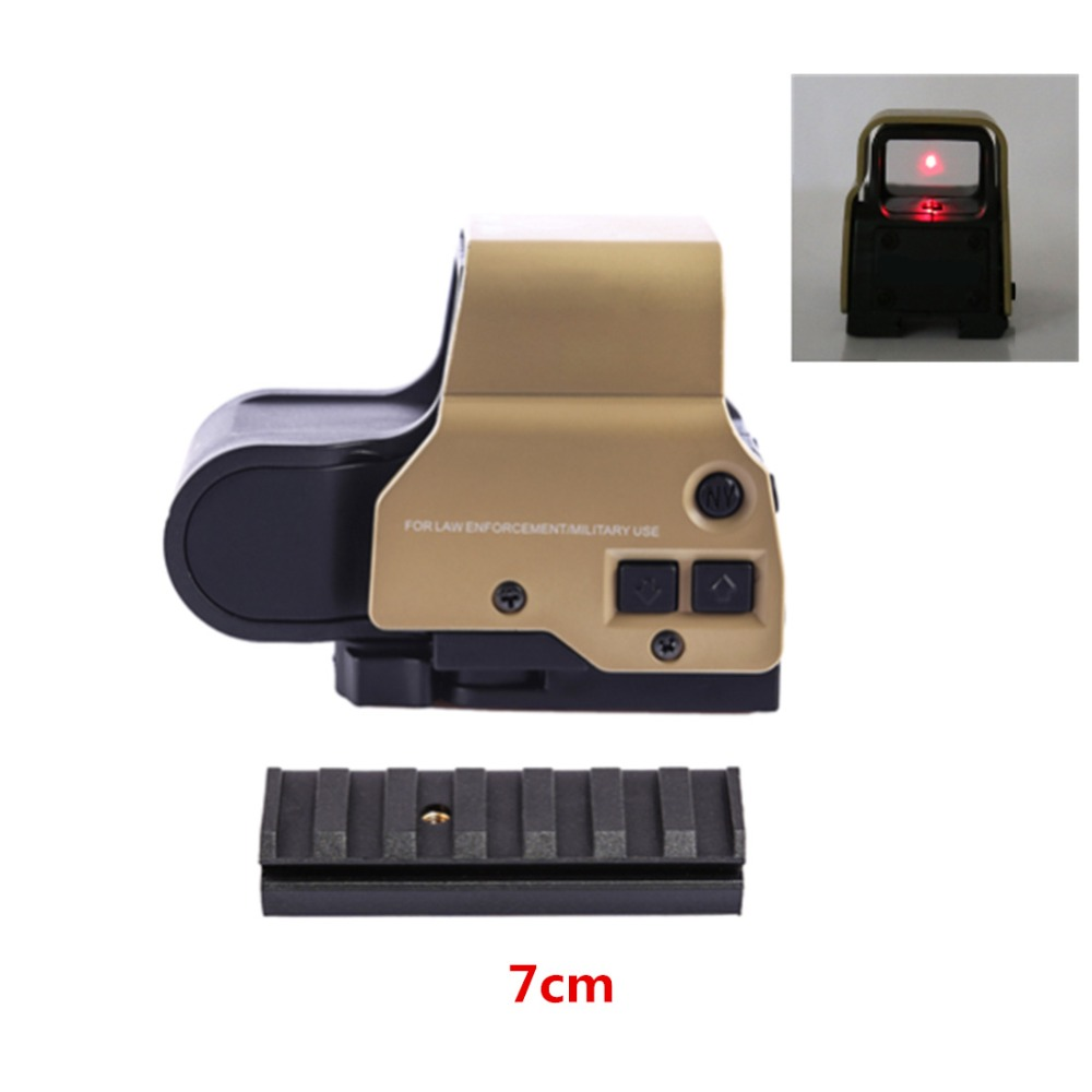 Nuevo táctico multifunción Vista de punto rojo con 7 cm más 21mm de ancho adaptador de carril para Nerf Blaster/ gel de agua cuentas Blaster