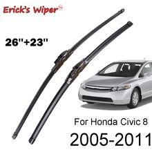 """Стеклоочиститель Erick's, передние щетки стеклоочистителя для Honda Civic 8 Sedan, лобовое стекло, переднее стекло 2"""" и 23""""(космический корабль"""