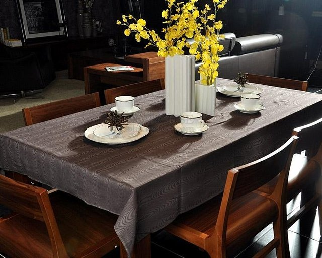 Free Shipping F2272 Home furnishing brands tablecloth Wood grain tablecloth