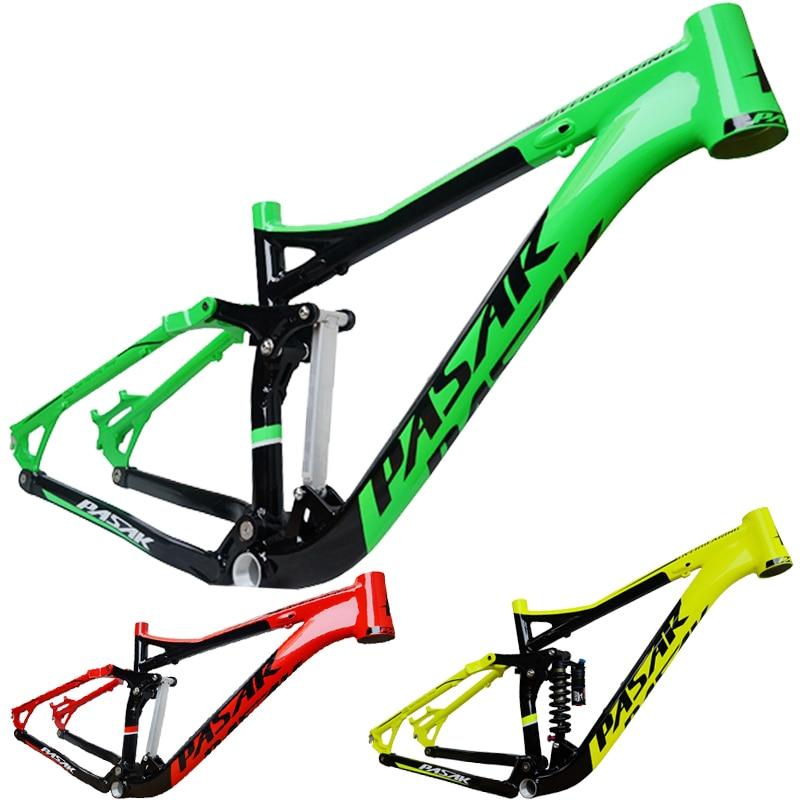 Cadre en Aluminium PASAK en alliage vtt montagne DH AM cadre de vélo 26/27. 5er * 17 pouces partie de vélo de descente