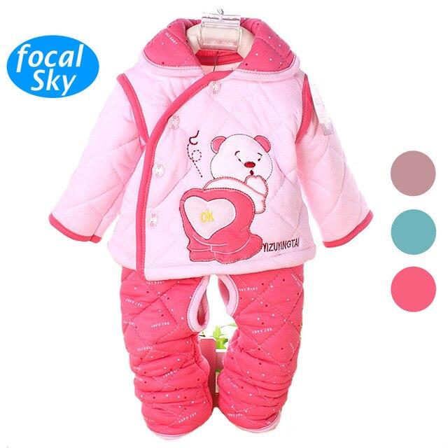fb2e41fd6 2015 Hot bebê recém-nascido roupas de inverno do bebê roupas de menina  definido urso