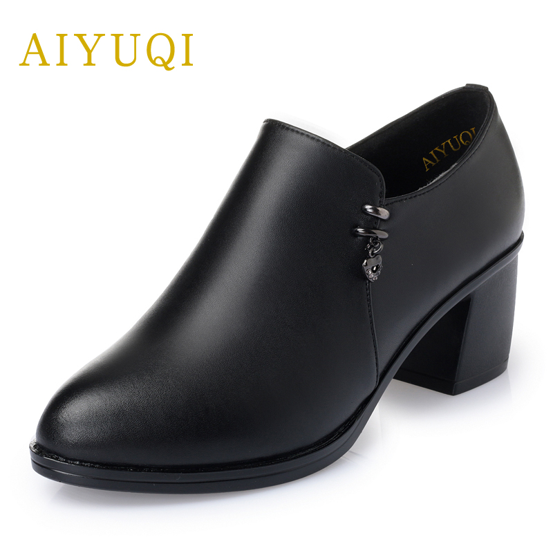 genuine leather women shoes