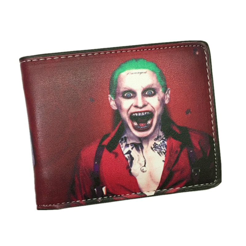 Suicide Squad Wallet The Joker Harley Quinn And Bat Man Anime Comics Bifold Men Women Wallets With Card Holder Purse Billeteras japan anime katekyo hitman reborn wallet cosplay men women bifold coin purse