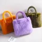 Ins streetwear saco moda pérolas bolsa feminina 2019 novas meninas de luxo sacos de pele do falso doces macios caixa cor sacos festa femme - 1