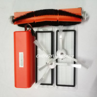 14.4V5200mAh vacuum cleaner battery +1*Rolling brush+ 2* filter+2*side brush Suitable for xiaomi mi robot xiaomi robot