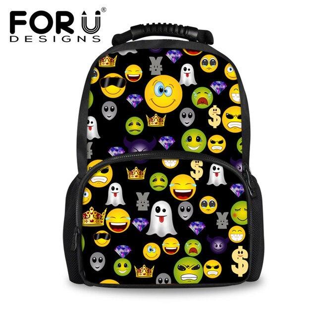 5e5adc525d21 FORUDESIGNS Cute Emoji School Bags Teenager Girls