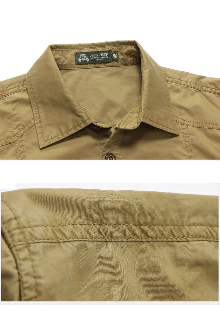 a606f2874a8 Plus Size Khaki Shirt 3xl Summer Mens Solid Color Dress Shirts 100% Pure  Cotton Short Sleeve Shirt Business Casual CLOTHES 1361-in T-Shirts from  Men s ...