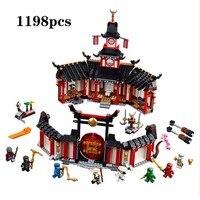 2019 новый ниндзя монастырь Spinjtzu Совместимость с legoingly Ninjagoes строительные блоки кирпичи детские игрушки рождественские подарки 1198 шт