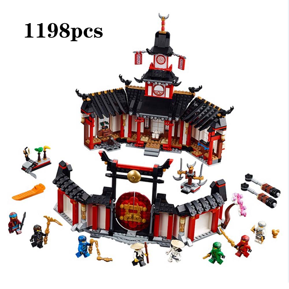 2019 nouveau monastère Ninja de Spinjtzu Compatible avec les Ninjagoes blocs de construction briques enfants jouets cadeaux de noël 1198 pièces