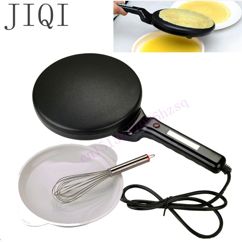 JIQI Household Non-stick Pan Electric Cake Stall Pancake Machine Portable Electric Bread Machine Grilled Pancake Machine jiqi 1300w household electric skillet multi functionbaking double pan heating machine pancake makers hover